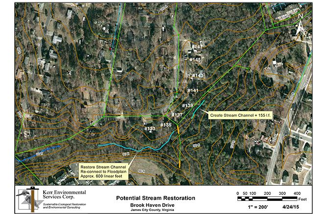 Brookhaven Stream Preliminary Map