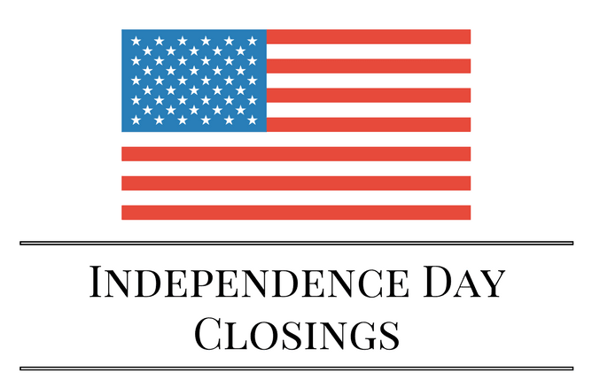 Independence Day Closings