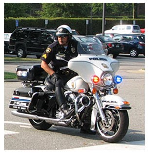 Motorcycle Officer on Patrol